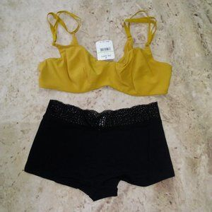 Free People Zoey Bra (34D) & Cotton Medallion